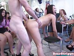 OMG my slut friend pussyfucked by strippers