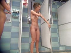 Thin beauty with Bubble Butt in shower