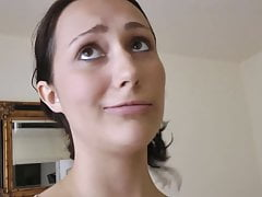 Pregnant Cutie Takes Titty Cumshot