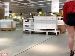 Devil-Sophie: Heavy public blowjob in the furniture store