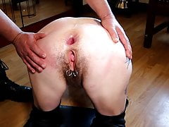 Hairy mature slut fucked in her ass