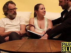 Naughty anal teacher Olga getting taught a hard sex lesson