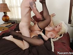 ALURA JENSON in black stockings gets hard fucking