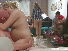 Pregnant girl still visits swinger parties