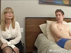 Young boy and mature woman